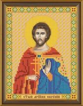 Рисунок на ткани для вышивания бисером Св. Мч. Евгений БИС 5178