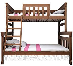Двухъярусная кровать Комби 2 80х120х200 ТИС 1760х1340х2125мм