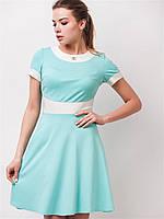 Расклешенное летнее женское платье с коротким рукавом 90157/2 44