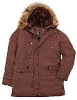 Мужская зимняя куртка аляска Altitude Parka Alpha Industries (коричневая)