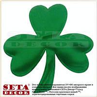 Значок на прокат, брошка, брошь Трилистник зеленый лист клевера - символ празднования Дня святого Патрика