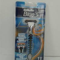 Станок для бритья мужской Gillette Blue3 Vektor Sensor Excell  + 1 картридж, фото 1