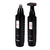 Триммер для волос в носу Kemei KM9688, бритвенная насадка, нержавеющие лезвия, аккумулятор