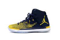 Баскетбольные кроссовки Nike Air Jordan 31 blue-yellow