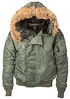 Оригинальная куртка аляска Alpha Industries N-2B Parka MJN30000C1(Sage Green), фото 1
