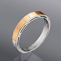 Серебряные обручальные кольца с золотом
