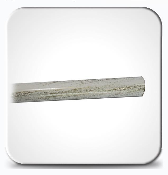 Труба гладкая 2,0м д.19мм белое золото