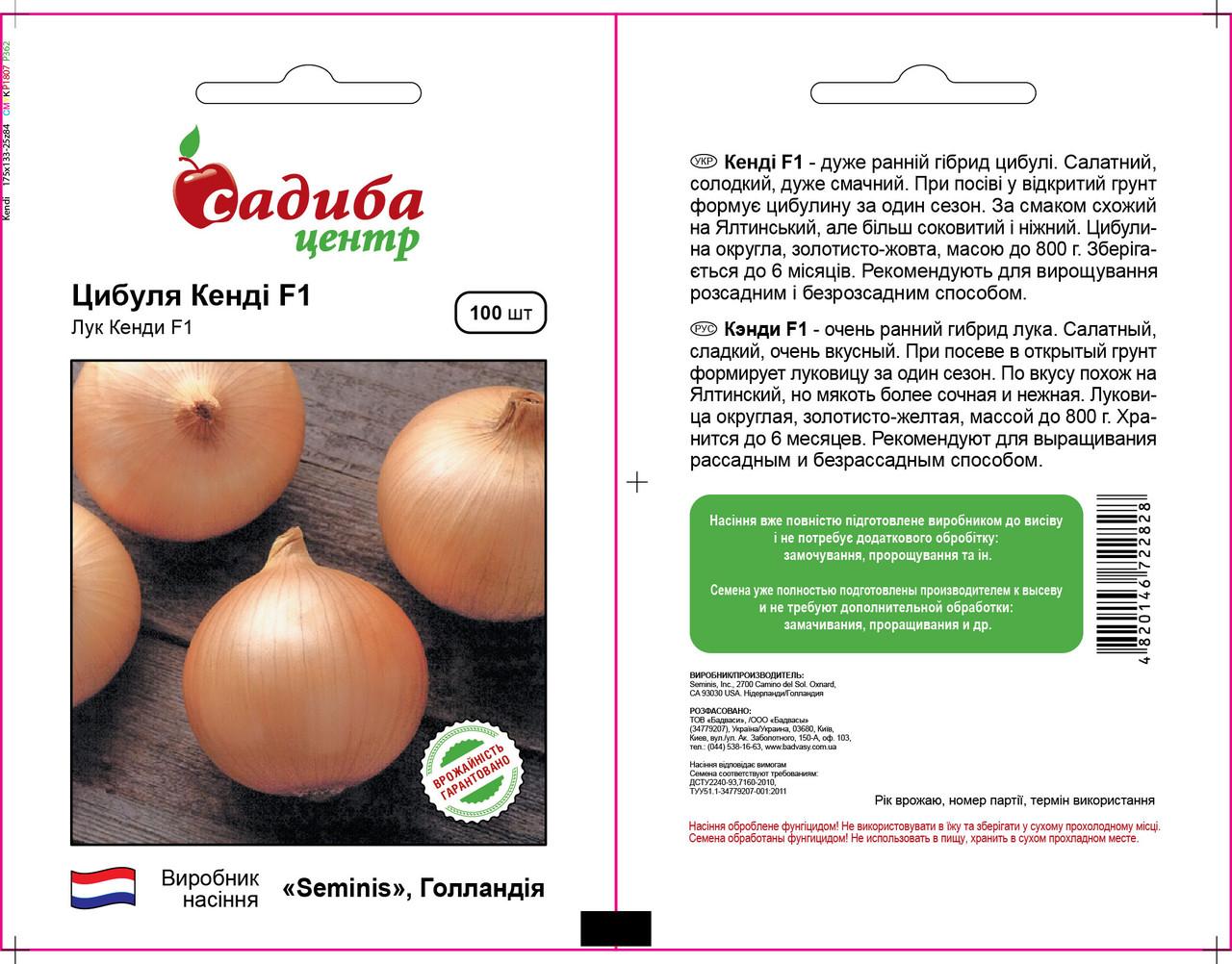 Семена лука Кенди F1 (Seminis) 100 сем — ранний (102 дн), золотистый, круглый, репчатый