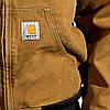Куртка стеганая рабочая с теплым капюшоном черная Carhartt® (одежда рабочая) CA-EJ130 BLK, фото 4