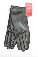 Кожаные женские перчатки из плотной кожи