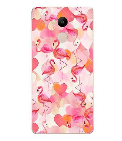 Чехол с картинкой (силикон) для Xiaomi Redmi 4 Pro / Redmi 4 Prime Фламинго