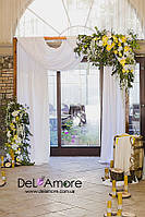Свадебная арка в аренду + столик в виде бочки