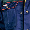 Куртка рабочая прочная мужская темно-синяя REIS Польша (рабочая униформа) BF GS, фото 4