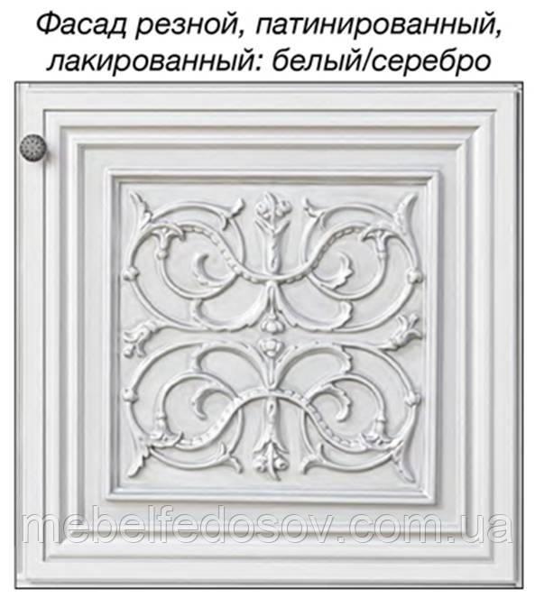 модульная система тоскана нова, цвет белый с серебром