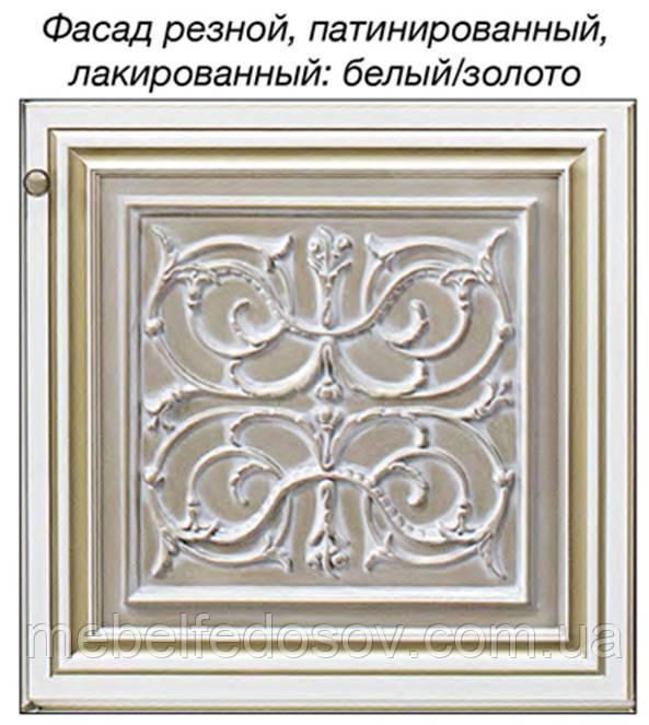 модульная система тоскана нова, цвет белый с золотом