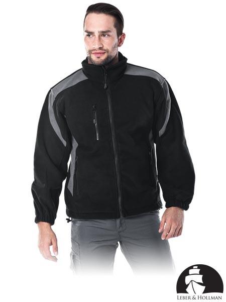 Кофта флісова робоча чорна Lebber&Hollman (робоча куртка) LH-FLEXER BS