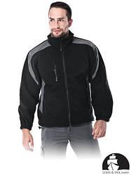 Кофта флисовая рабочая черная Lebber&Hollman (рабочая куртка) LH-FLEXER BS