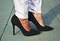Черные женские туфли на шпильке DZHENNA