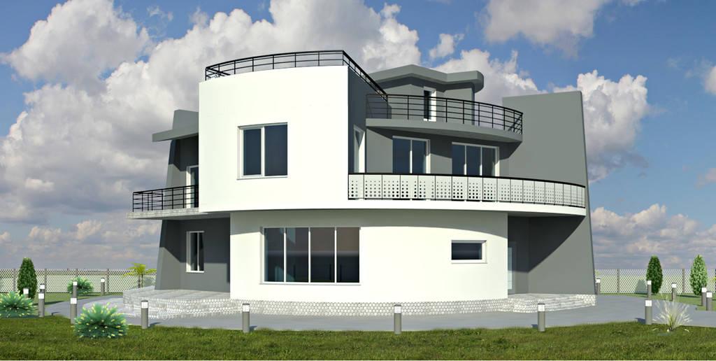 Дизайн фасада частного дома в с. Санжейка