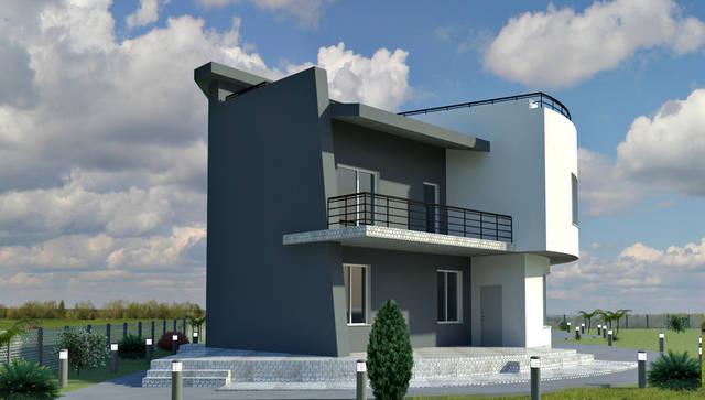 Дизайн фасада частного дома в с. Санжейка 1