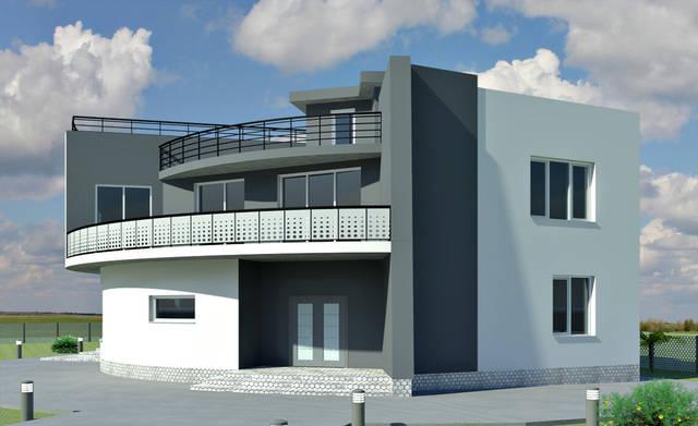 Дизайн фасада частного дома в с. Санжейка 2