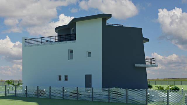 Дизайн фасада частного дома в с. Санжейка 3