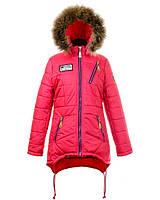 Детская зимняя куртка парка на девочку подростка, р.46