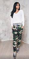 Спортивные штаны с начесом.  Камуфляж.