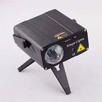 X-2 Лазер и LED светомузыка 2 в 1(USB вход, пульт в комплекте)
