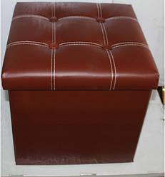 Пуфик складной декоративный (коричневый, зеленый, розовый красный)