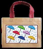 Набор-сумка для вышивки бисером «Зонтики»