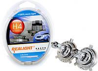 """Автомобильные галогенные лампы """"Realight"""" (H4)(+100%)(12V)(60/55W), фото 1"""