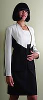 Костюм чёрно-белый с платьем Арт.943 р.38,42