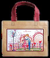 Набор-сумка для вышивки бисером «Влюбленные и зайка»