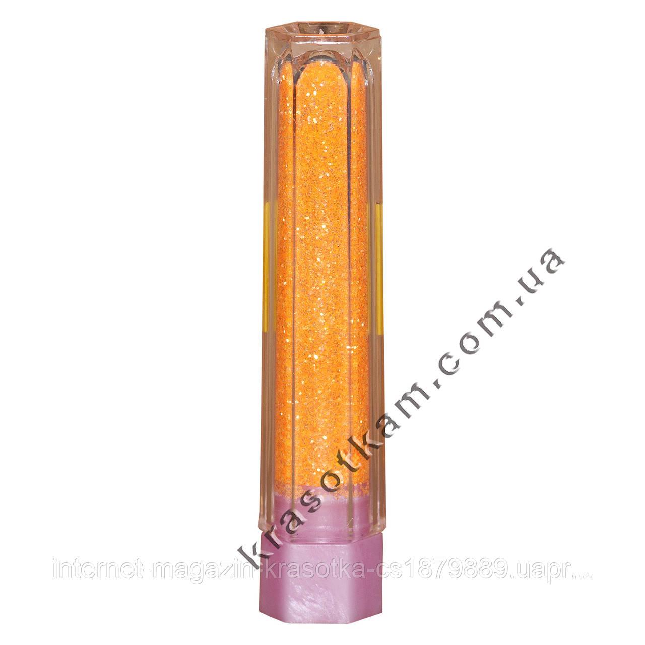 Блестки mART 17 светло-оранжевые мелкие