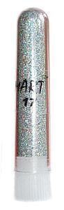 Блестки mART 17 серебро голографическое крупное
