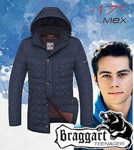 Зимняя детская куртка 48, св.синий-чёрный