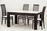 Обеденный комплект /стол Милан (стекло)  +4 стула 06м