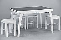 Обеденная группа / стол Фаворит-02 (стекло)+ 4 табурета 02м/
