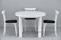 Кухонный стол круглый со стульями купить,  Зевс (+стулья 04м)