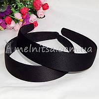 Обруч-основа в атласе, черный, 3 см