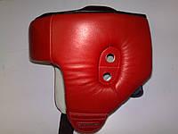 ЛЕВ Шлем для боксу шкіра, червоний, синій