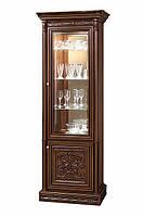 Тоскана Нова витрина 1-но дверная вариант №1 (Скай) 87х227х50