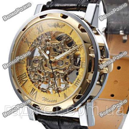 Мужские механические часы Winner Skeleton Hand Wind, фото 2