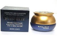 Крем для лица антивозрастной с медом BERGAMO Moselle Royal jelly wrinkle Cream 50мл
