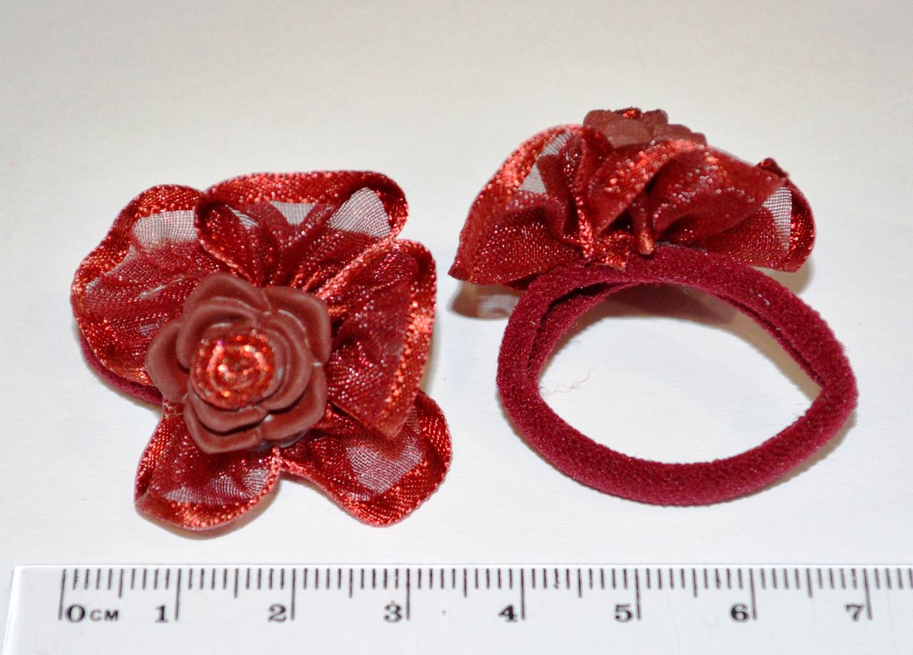 Дитячі резиночки для волосся -трояндочка (12 шт)