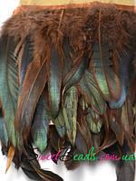 Перья петуха, коричневый