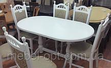 Деревянный стол Гирне-4, цвет Пирти (Слоновая кость), фото 3