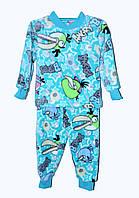 Пижама махровая для мальчика 1-7 лет Angry Birds