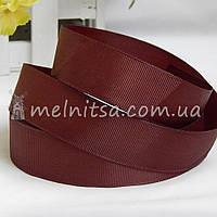Лента репсовая коричневая, 2,5 см